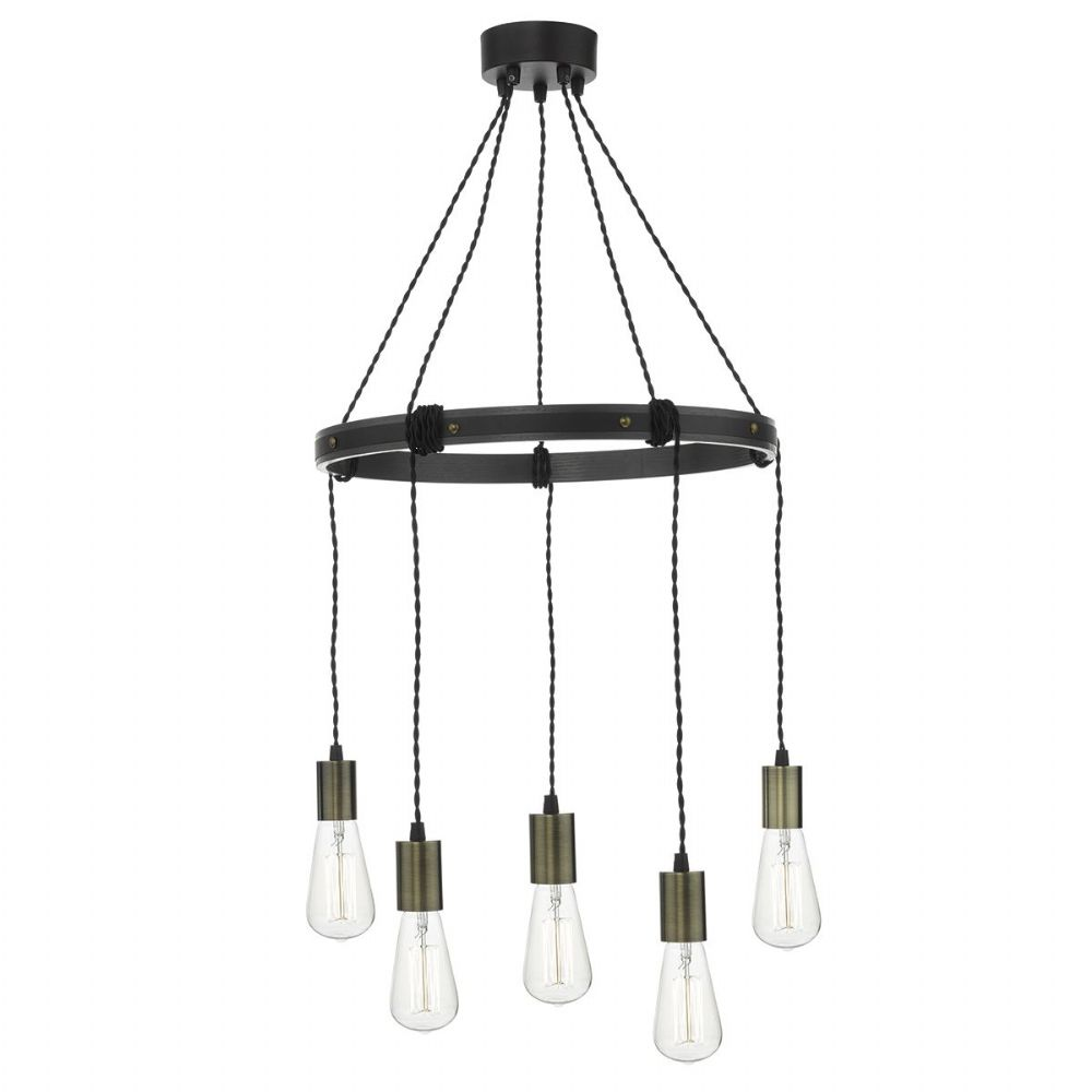IVAN 5LT PENDANT RUSTIC (Class 2 Double Insulated) BXIVA0531-17